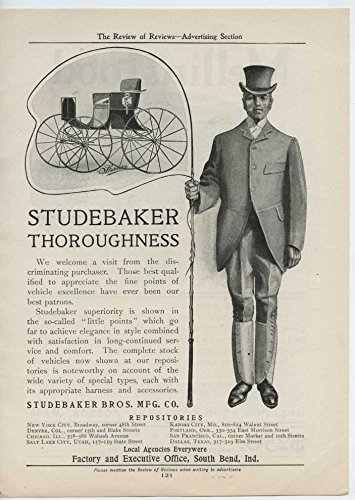 1904 Studebaker Motor Car South Bend IN Auto Ad Mellin Food