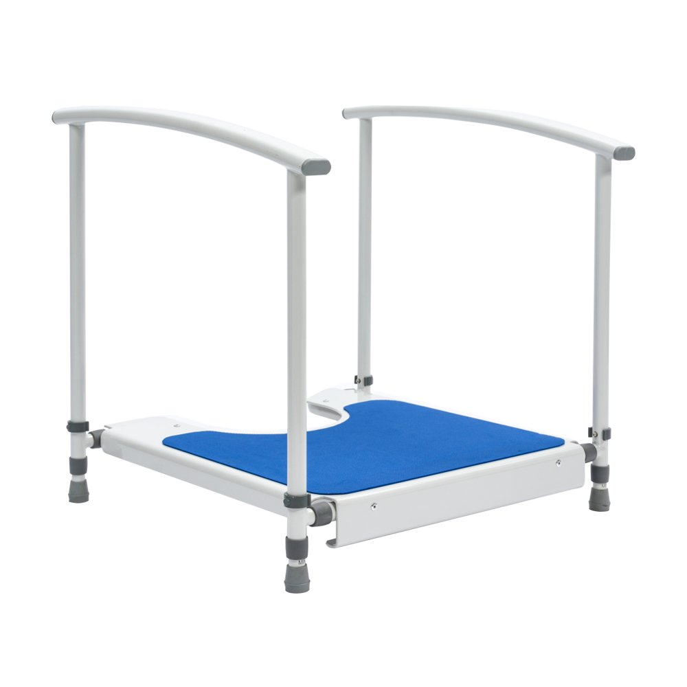 Nrs Nuvo Petite Childrens Toilet Platform with Handrails - Height Adjustable (Eligible for VAT Relief in The UK) by NRS Healthcare