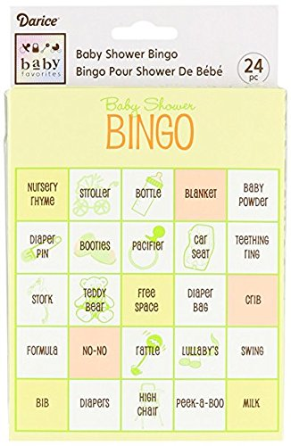 72 Baby Shower Bingo Cards Game Party Yellow by Darice