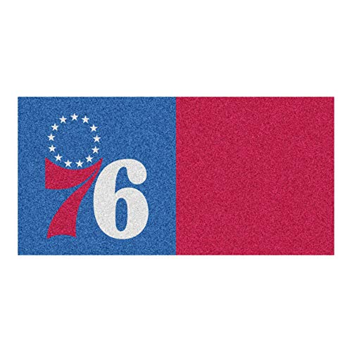 FANMATS NBA Philadelphia 76ers Nylon Face Team Carpet Tiles