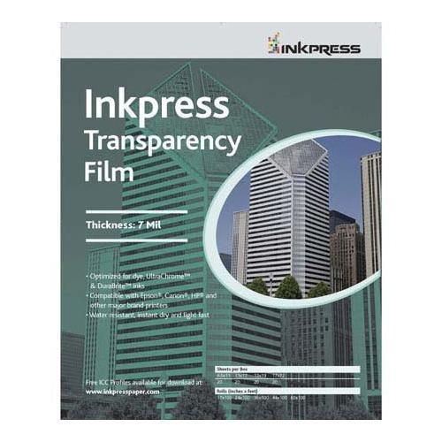 Inkpress Transparency, 7mil Resin Based Inkjet Film, 13x19