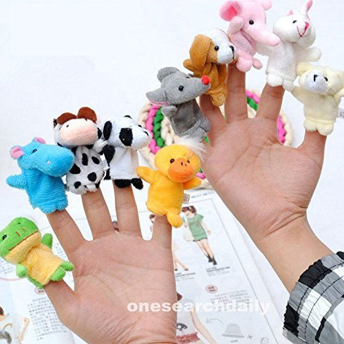 Attack On Titan Costume Diy (10 Pcs Family Finger Puppets Cloth Doll Baby Educational Hand Cartoon Animal Toy)