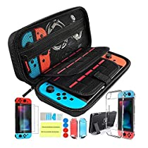 Th-some Kit de Accesorios 14 en 1 para Nintendo Switch, Funda Protectora para Interruptor Nintendo, Cubierta Transparente