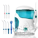 Cleansing Water Jet - Ikeepi Water Flosser Oral Irrigator Power Floss Water Jet Profesional Dental Irrigator Family Gum Disease Removing with 7 Tips High Capacity Dental Flosser for Teeth, Braces and Bridges