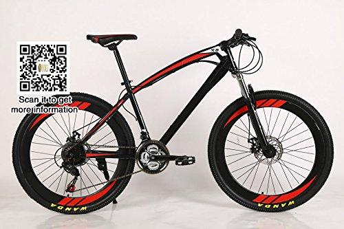 Yoli® 26 pulgadas, 21) velocidad bicicleta bicicleta de montaña de esquí de velocidad variable, para bicicleta de montaña bicicleta Ciclismo, estudiante, ...