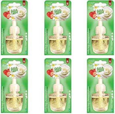 [Gesponsert]6x Fresh&More Nachfüllflakons Weiße Rose-Plumeria Für E-Duftstecker,19ml