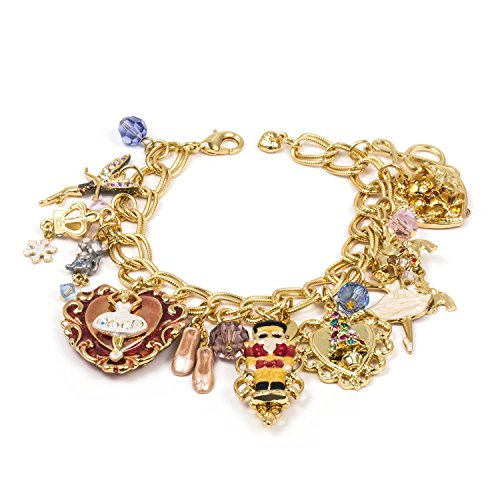 Yoshine Gold or Sterling Silver Plated Pendant Series Charms Bracelet for Kids Girls Jewelry (Santa Claus)