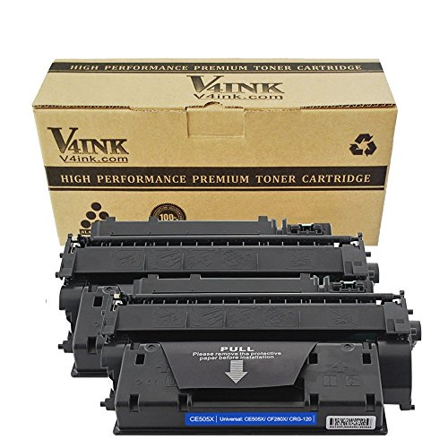 V4INK 2 Pack Compatible Replacement for 80X CF280X Toner Cartridge - for use in HP LaserJet Pro 400 M401dne, HP Pro 400 M401n, HP Pro 400 M401dw, HP Pro 400 MFP M425dn series printers (Laserjet Printer Cartridge 80a)