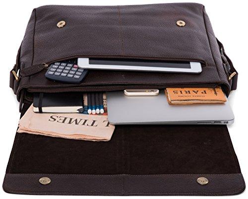 LEABAGS bandolera cuero bolso OlivaVerde en vintage búfalo Cooperbrown Oxford de estilo el auténtico 5rwXxRrEq