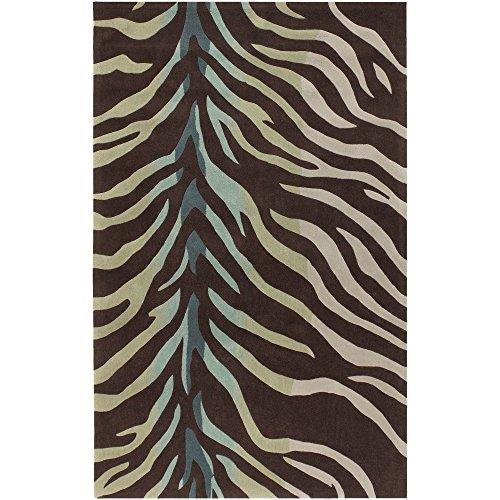 Surya Cosmopolitan COS-8865 Contemporary Hand Tufted 100% Polyester Hot Cocoa 9' x 13' Animal Area Rug