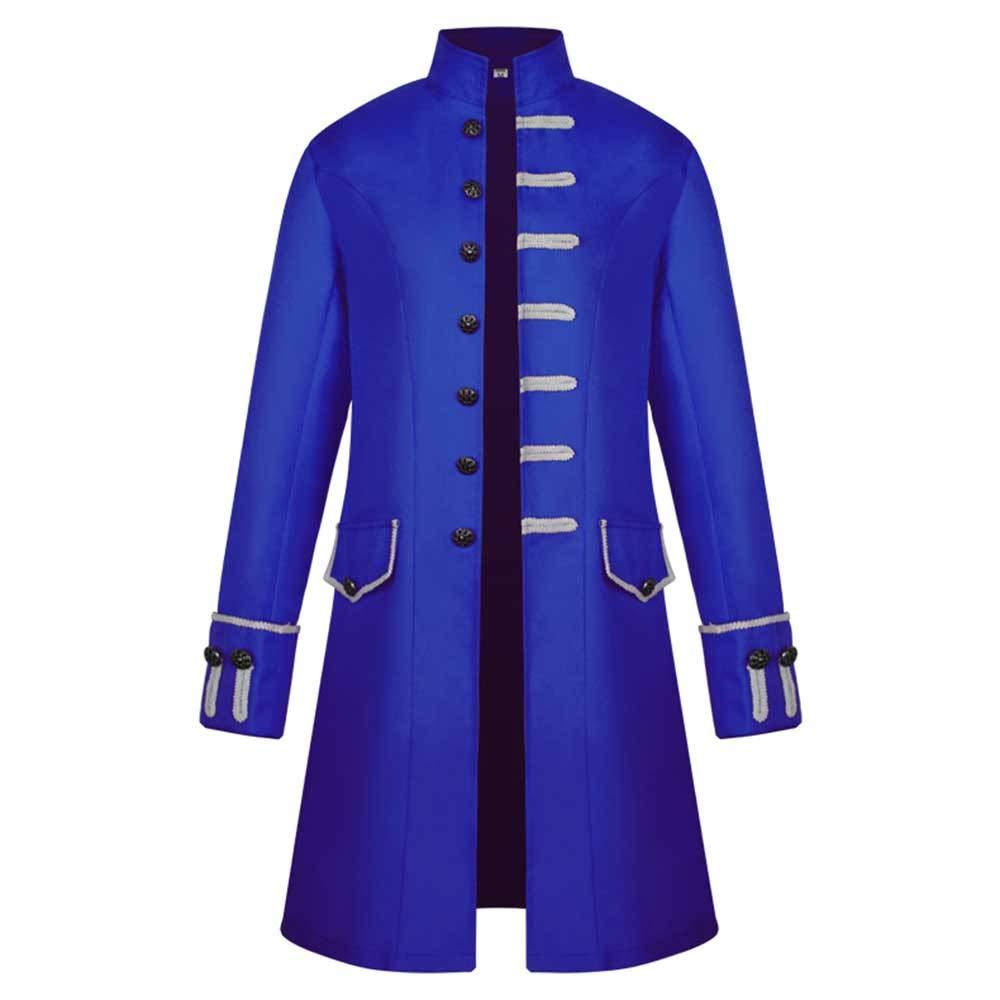 Vibola Men Winter Warm Vintage Tailcoat Jacket Overcoat Outwear Buttons Coat