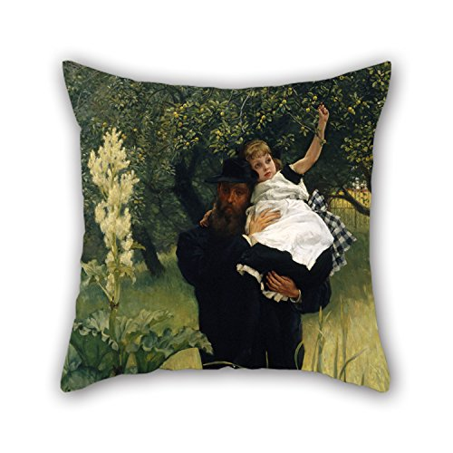 Loveloveu 20 X 20 Inches / 50 By 50 Cm Oil Painting James Tissot - The Widower Pillowcover ,double Sides Ornament And Gift To Teens Boys,chair,kids Girls,shop,car,car (Plum Blossom Princess Costume)