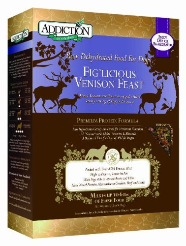 Addiction Raw Dehydrated Grain-Free Dog Food, Fig'licious Venison Feast, 2lbs, My Pet Supplies
