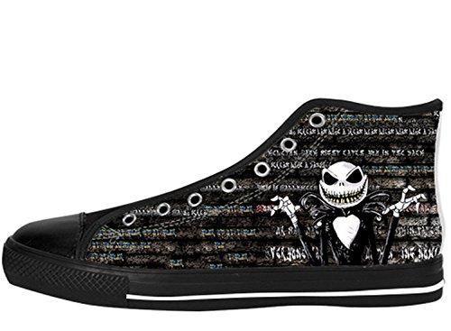 Women's Fashion TNBC Canvas High Top Featured SneakersShoes US 8 - Jack Skellington Shoes