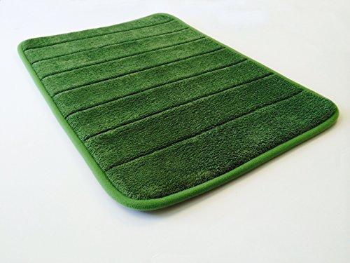 eConsumersUSA 24''x17'' Green Smooth Luxurious Micro Plush Anti Skid Memory Foam Bath Mat Rug - Green Bath Foam