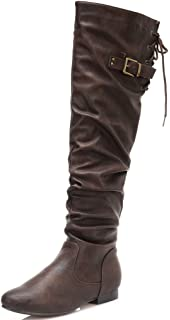 6ea3b54290a DREAM PAIRS Women s Colby Over The Knee Pull On Boots (Wide-Calf)