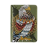 Native American Indian Art Prints Leather Passport Cover - Holder - for Men & Women - Passport Case