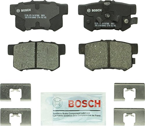Bosch BC1086 QuietCast Premium Ceramic Disc Brake Pad Set For: Acura RDX; Honda Accord Crosstour, Crosstour, CR-V, Rear