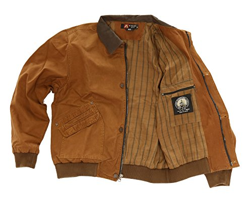 Classic Bomber Jacket Double Bay with Leather Collar - Bay Leather Jacket