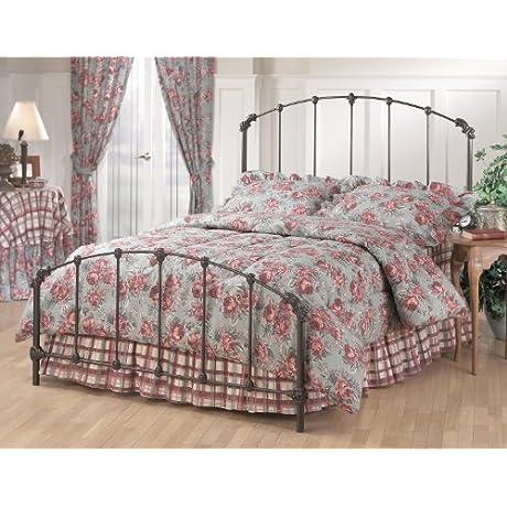 Hillsdale Furniture 346BKR Bonita Bed Set With Rails King Copper Mist