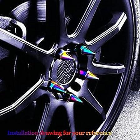 20pcs M12X1.5 estilo japonés rosca de aleación de aluminio pinchado coche rueda extensible afinador Tuercas / Llantas color cromo: Amazon.es: Coche y moto