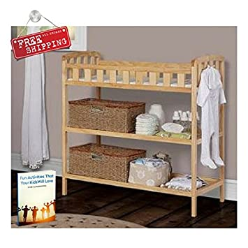 Superbe Baby Changing Table Portable Infant Diaper Crib Changing Table Natural  Toddler Newborn Wood U0026 EBook By