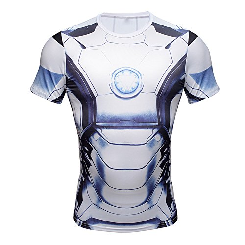 NEW Avengers Iron Man Superhero Costume Slim Fit T-Shirt Athletic Cycling  Jersey b1e32c0fd