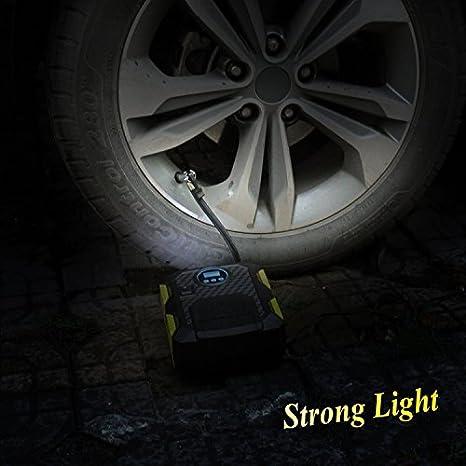 Cokeymove Pompe /À Pneu Compresseur dair Portable Gonfleur De Pneu Num/érique//Pointeur pour V/élos De Voiture Pneus De Moto 12V