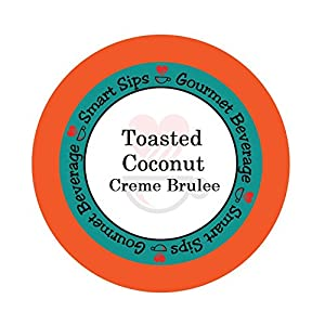 Smart Sips Coffee, Toasted Coconut Creme Brulee Flavored Coffee, 24 Single Serve Cups Compatible With All Keurig K-cup Brewers