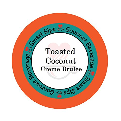 Smart Sips Coffee, Toasted Coconut Creme Brulee Flavored Coffee, 24 Single Serve Cups Compatible With All Keurig K-cup Brewers (Godiva Coffee Creme Brulee)