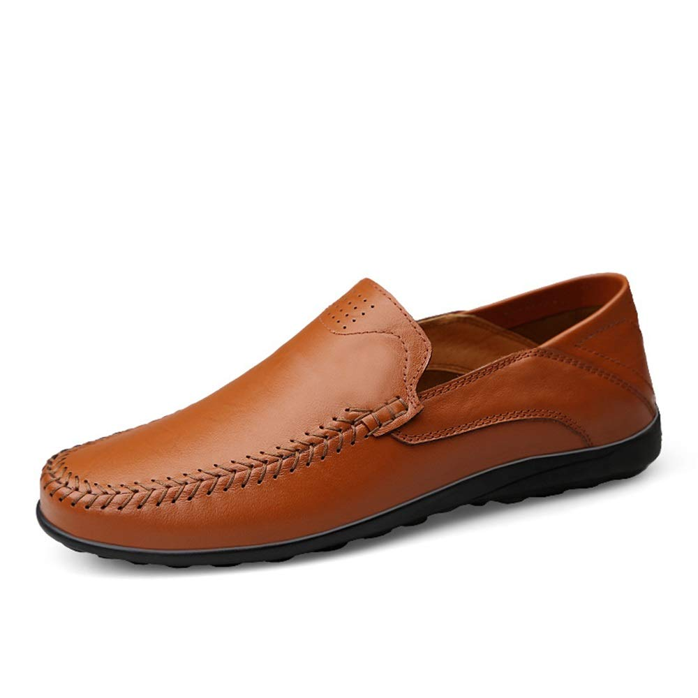XW_H Men Loafers Shoes Moccasins Leather Hiking Loafers丨Penny Loafers 丨Men Casual Shoes 丨Canvas Shoes for Men 丨Driving Shoes丨Mens Boat Shoes (Color : Red Brown, Size : 6.5 M US)
