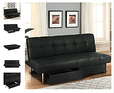 Quality Sofa - Microfiber Futon Folding Sofa Bed - Convertible Bed Sofa Couch - torage Recliner Lounger - Contemporary Beds - Small Spaces Sofas - Durable and Classy