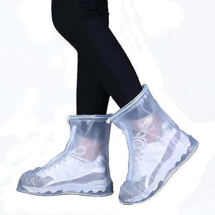 368c783581 FixWout Waterproof Bike Motorcycle Shoe Covers Reusable Rain Snow Shoes  Overshoes Gear Zipped Boot Men/Women Rain Shoes Covers