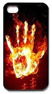 IMARTCASE iPhone 4S Case, Flaming Hand PC Black Hard Case Cover for Apple iPhone 4S/5