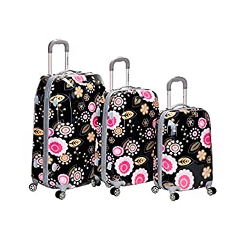 Image of Luggage Rockland Luggage Vision Polycarbonate 3 Piece Luggage Set, Pucci, One Size