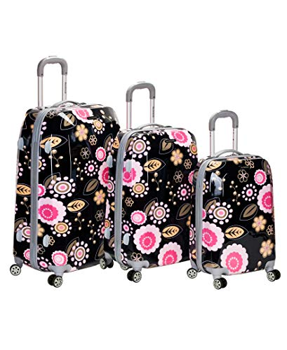 ion Polycarbonate 3 Piece Luggage Set, Pucci, One Size ()