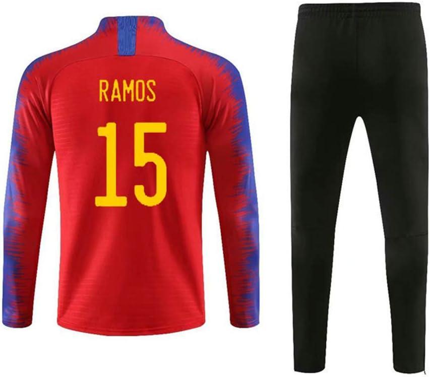 Camiseta Ramos Traje de Entrenamiento de la selección española Ropa Deportiva de Manga Larga Copa de Europa Federación Española de Fútbol: Amazon.es: Deportes y aire libre