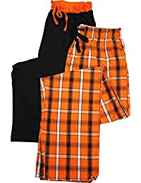 Mens 2 Pack Woven and Knit Lounge Pants