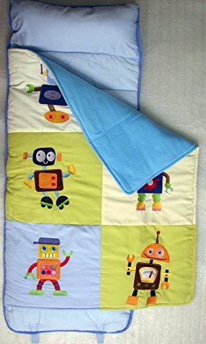SoHo Rollable Nap Mat for Toddlers, Robot Friends