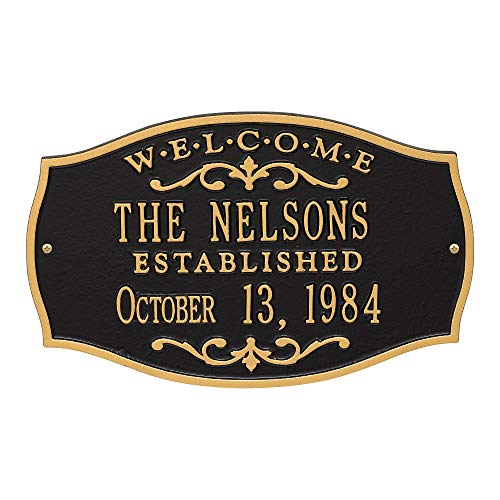 Custom Brookfield WELCOME 2 Lines Anniversary Plaque 15