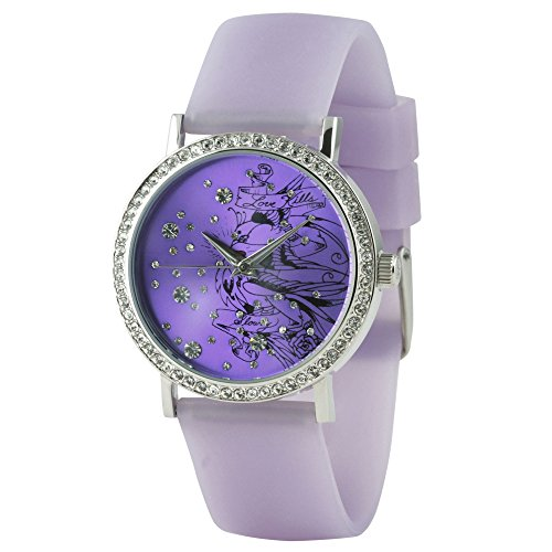 Ed Hardy Love Bird Purple Women's Watch