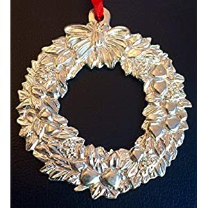 878 Wreath Holiday Christmas Ornament Pewter 4