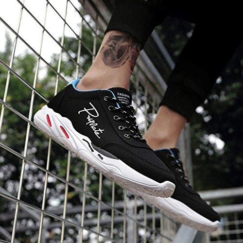 Deporte De Zapatos Zapatos De Negro Cordones Hombres Viajes De Transpirable ALIKEEY Zapatillas Primavera Casual Deporte wIq4Ezf