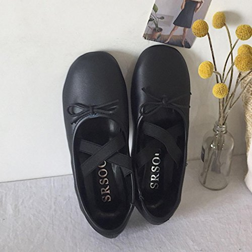 for Thongs Black Cute Dance Fashion Pea Soft Wedge Casual Flip Sandals Shoes Janes Flats Walking Ballet Mary Yoga Sneakers up Women VEMOW Trainers Espadrilles Flops Running Dance Lace C5p7RY