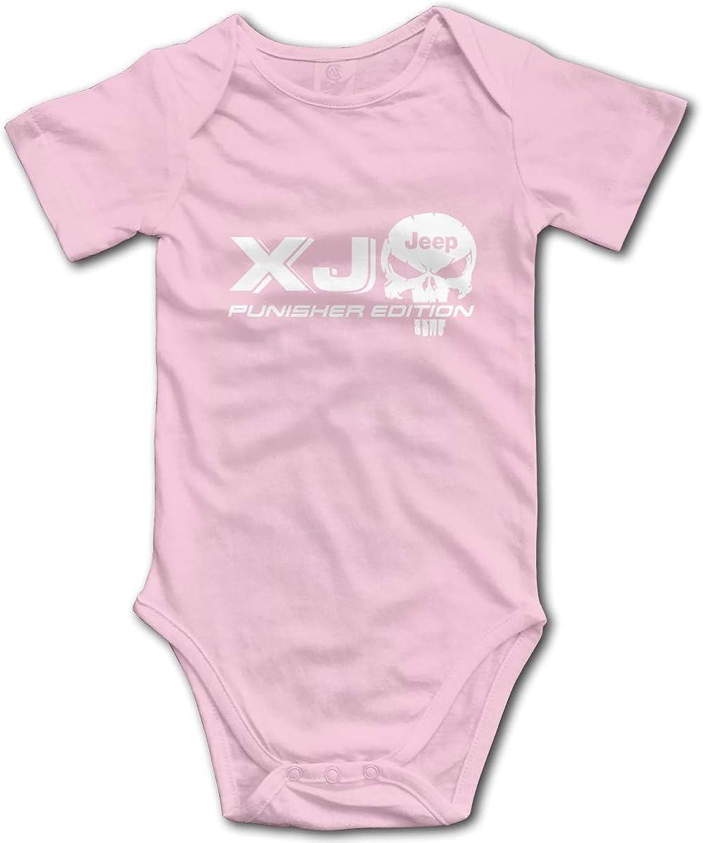 XJ JE-EP Punisher Skull Funny Infant Jumpsuit Romper Baby Layette Bodysuit Kids One-Piece 0-2T