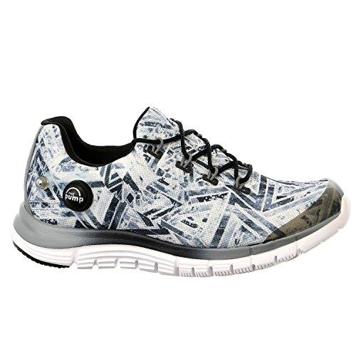 Reebok Zpump Fusion Geo Shoes - Foggy Grey/Black/White - Womens - 7.5 ()