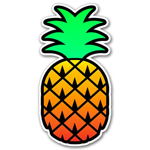 AK Wall Art Pineapple Tropical Vibes Vinyl Sticker - Car Phone Helmet - Select Size