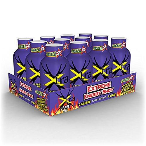 Stacker2 Extra Strength Energy Shot Grape 2oz. 12 Pak by Acrimony Lounge