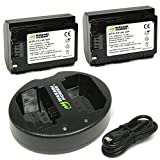 Wasabi Power Battery (2-Pack) and Dual USB Charger for Sony NP-FZ100, BC-QZ1 and Sony a9, a7R III, a7 III