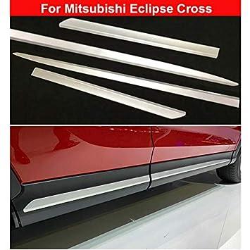 4 cubiertas cromadas para molduras de puertas laterales de Eclipse Cross 2018 2019: Amazon.es: Coche y moto